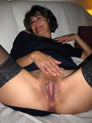 Classy sexy brunette older mom