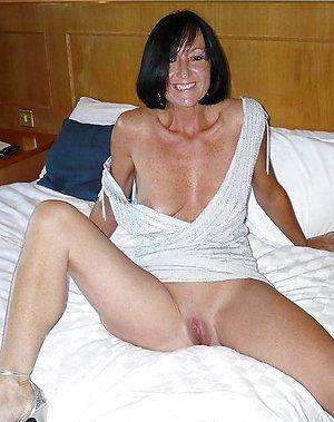 Naked petite brunette mature milf