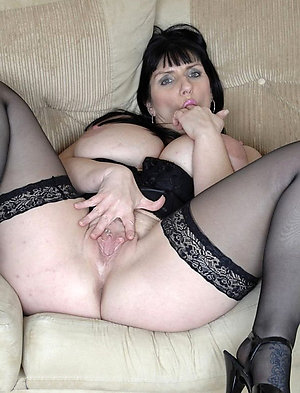 Cute mature brunette woman