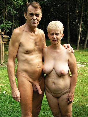 Fledgling older nude couples