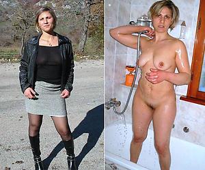 Hot porn of matures dressed plus undressed
