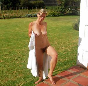Beautiful hairy natural mature naked photo