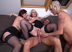 Alluring mature group sex hot pics
