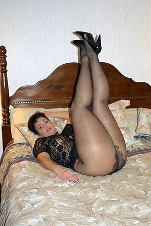 Beautiful grown-up woman in pantyhose