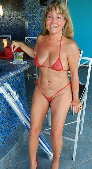 Sexy busty grown up bikini
