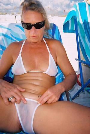 Best mature woman bikini battle-axe pics