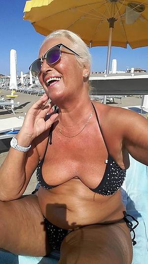 Lovely mature milf bikini