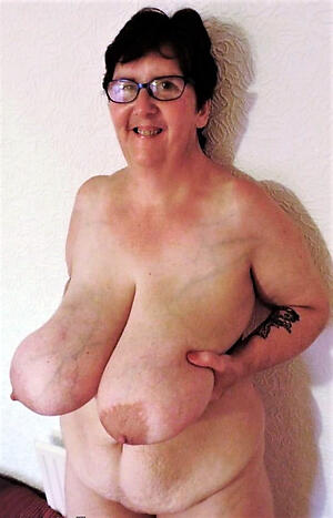 Nude pretentiously saggy tits mature