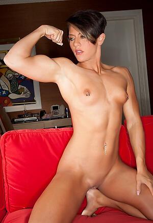 Elegant naked muscle mature