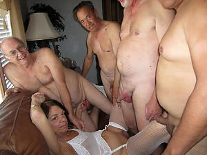 Pretty mature women group sex