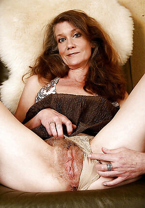 Naked mature hairy piece of baggage