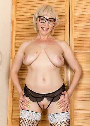 Slutty full-grown glasses porn photo