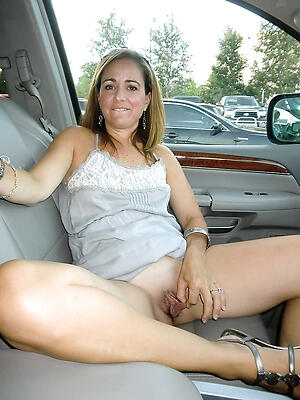 Gorgeous grown-up nude here car