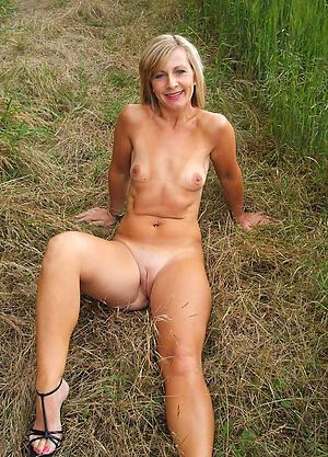 Naughty mature small boob naked photo