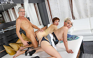 Attracting mature amateur threesome