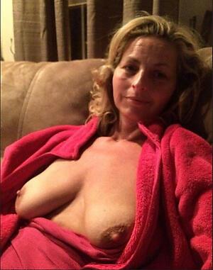 Undressed amateur mature tits