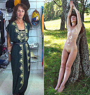 Slutty women dressed then undressed photos