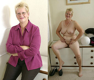 Xxx dressed undressed older milf