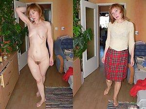 Amateur pics of dressed undressed mature