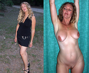 Gorgeous amateur old lady dressed undressed