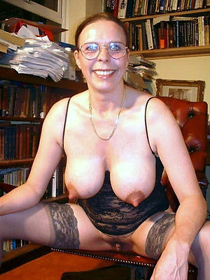 Amateur old lady with glasses photos