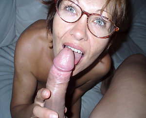 Cool mature wife slut with glasses photo
