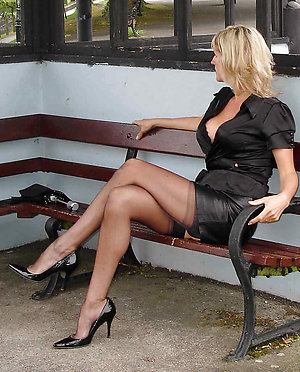 Hotties mature women in high heels