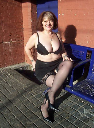Whorish mature women in stockings and heels