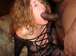 Private amateur mature wife interracial