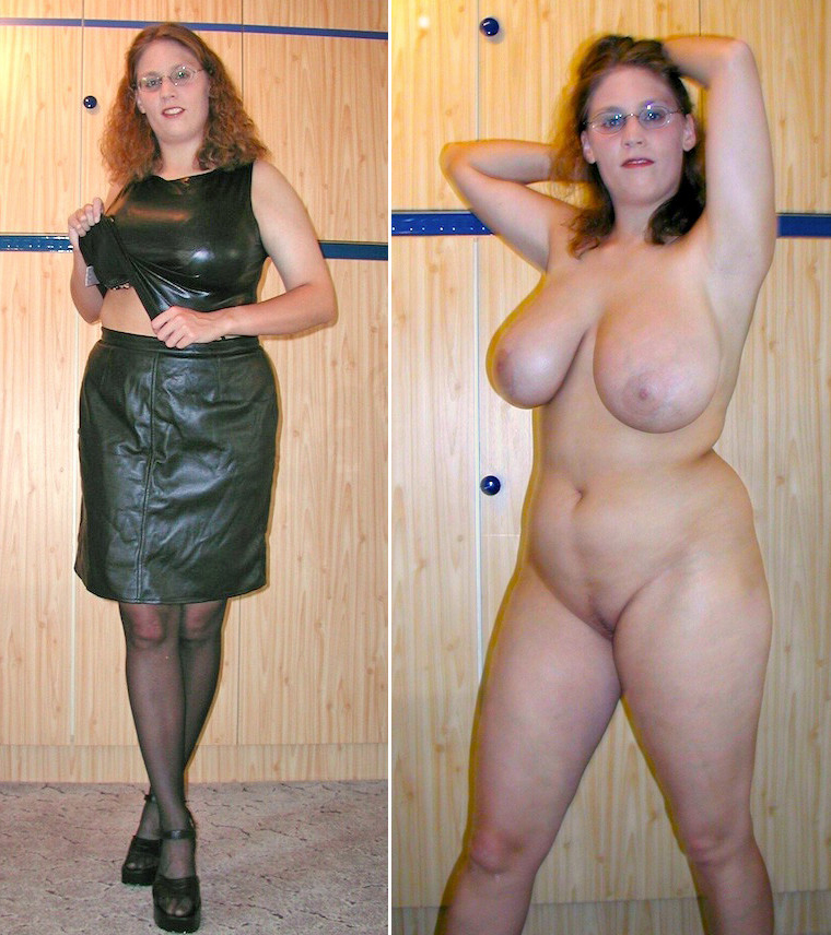 Milfs dressed undressed